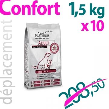 Adult Lamb+Rice 1,5 kg - 10 sachets + clip