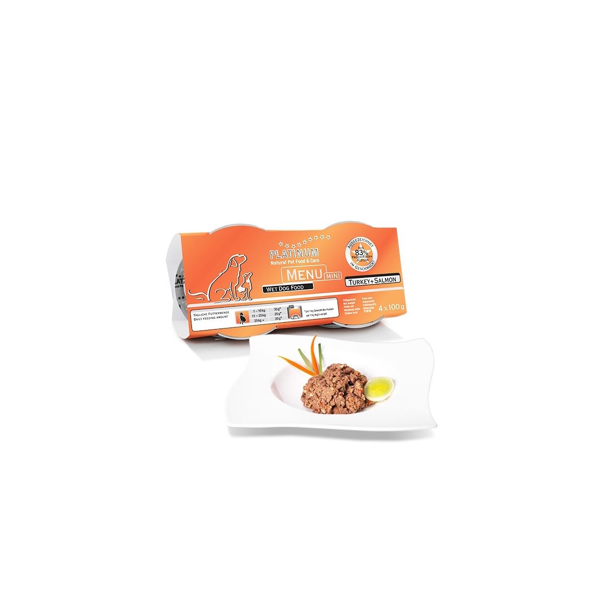 MENU Mini Turkey+Salmon